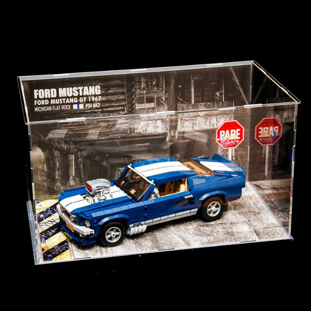 Transparent Acrylic Display Case For LEGO 10265 For Ford Mustang Bricks Toy